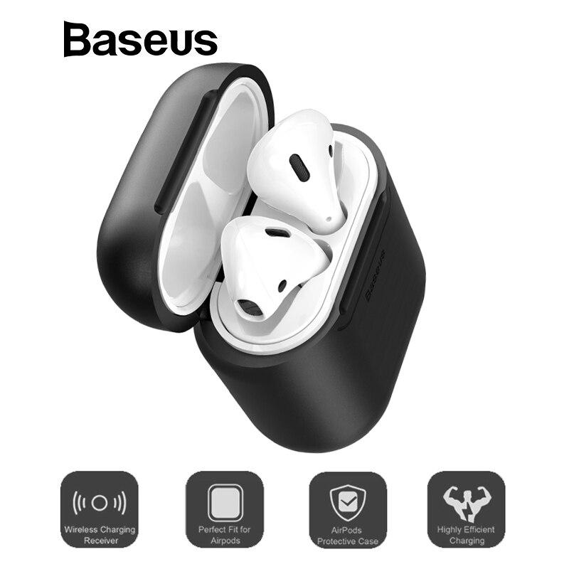 Baseus receptor de carga inalámbrico para los AirPods TPU silicona de Ultra delgado caso para los Airpods de Apple soporte de carga inalámbrica