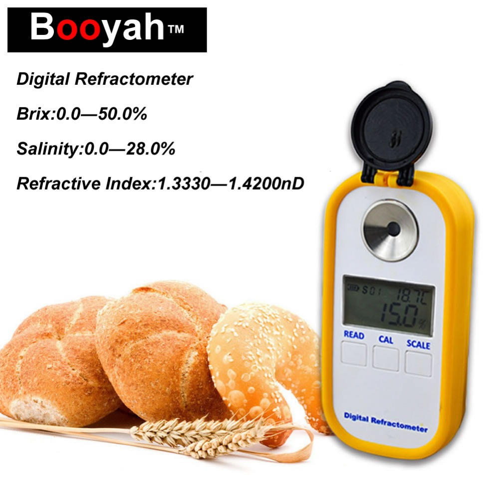 Original Booyah DBS-50 Digital Display Combo Refractometer Brix Meter Salinity Meter Food Soup Salinity Test Sweetness Meter 4 8 days arrival lb92t portable sweetness tester brix meter with measuring range 58 92