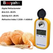 Original Booyah DBS-50 Digital Display Combo Refractometer Brix Meter Salinity Meter Food Soup Salinity Test Sweetness Meter недорого