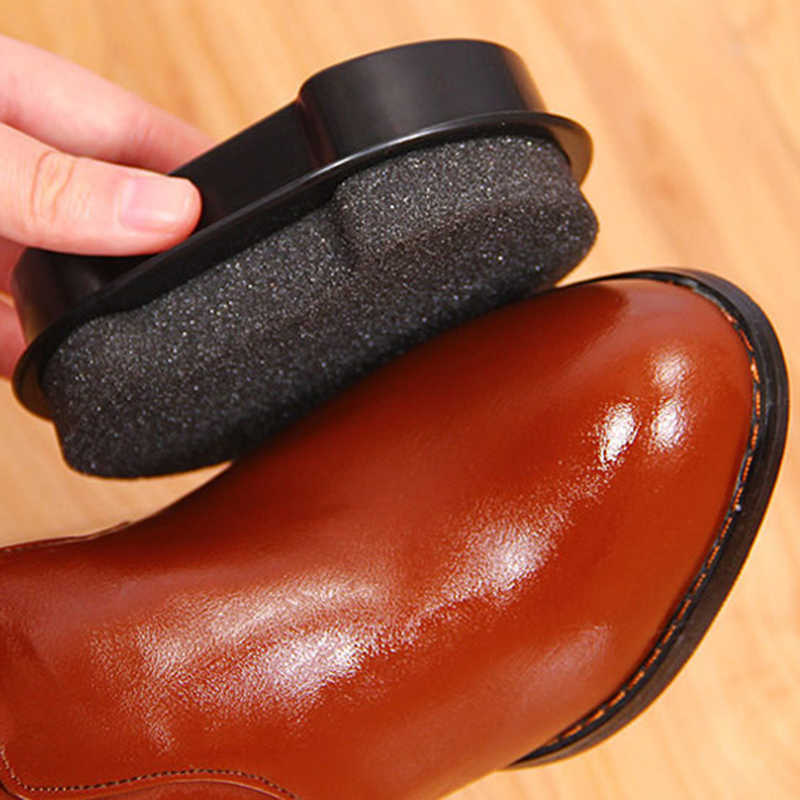 Double-Sided Esponja Sapatos Escova de Limpeza Líquido De Limpeza de Cera De Polimento De Couro Brilhando Esponja Polidor de Sapatos Bota Sofá Do Saco de feijão