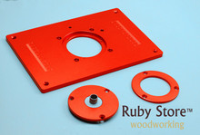 Aluminum Router Insert Plate for Routers (Red Series) 200mm x 300mm 10mm