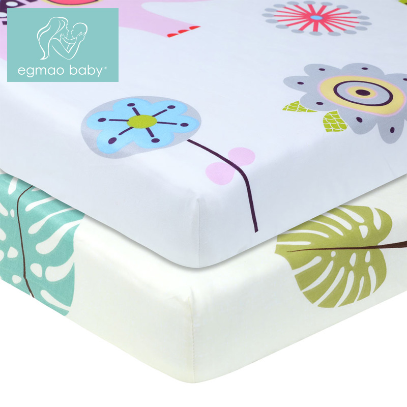 купить 100% Cotton Percale Fitted Portable/Mini Crib Sheet Bed Baby Bed Mattress Cover 130*70 cm Sheet Fitted Crib Sheet Soft по цене 991.4 рублей