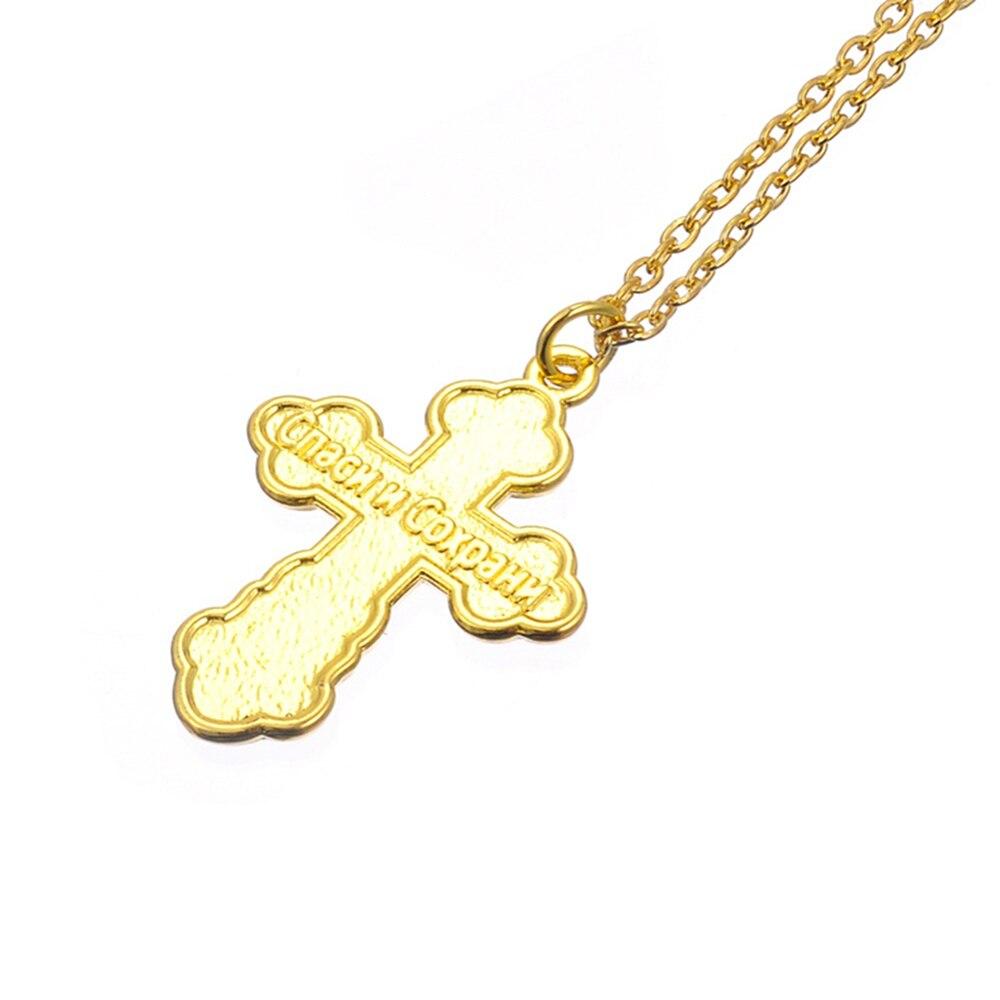 Wetwap Kisha Ortodokse Varëse Sllave Kisha Mashkull Mashkull Cross - Bizhuteri të modës - Foto 5