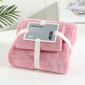 Image 2 - Coral Velvet Absorbent Bath Towels for Adults Face Towel Bath Towel Set Soft Comfortable Bathroom Towel Set 70*140 11 Colors