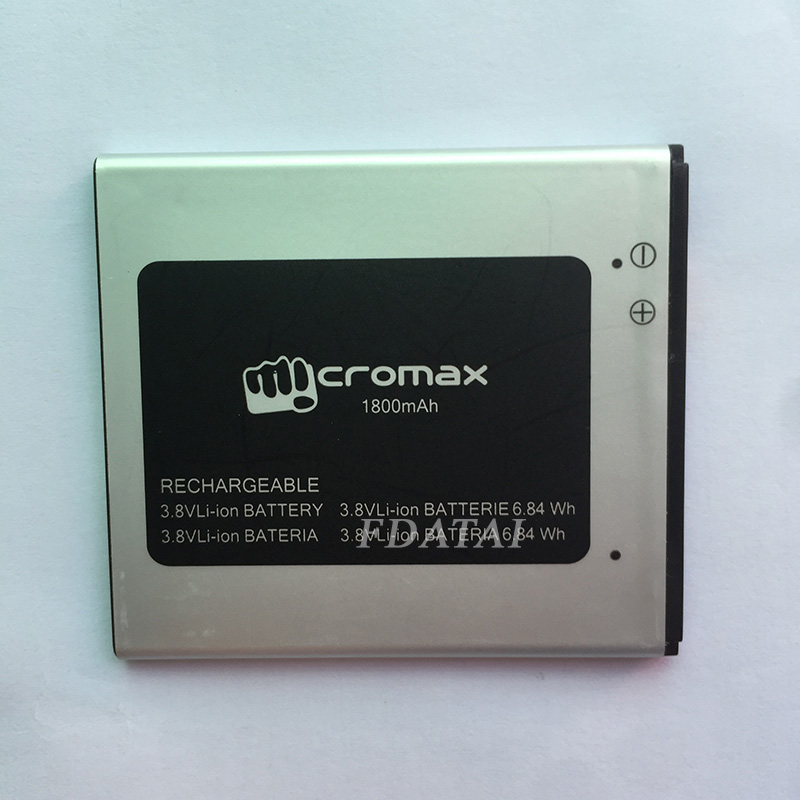 High Quality 1800mAh battery For Micromax Q415 Accumulator Bateria Batterij Batterie Mobile Phone Batteries with tracking number