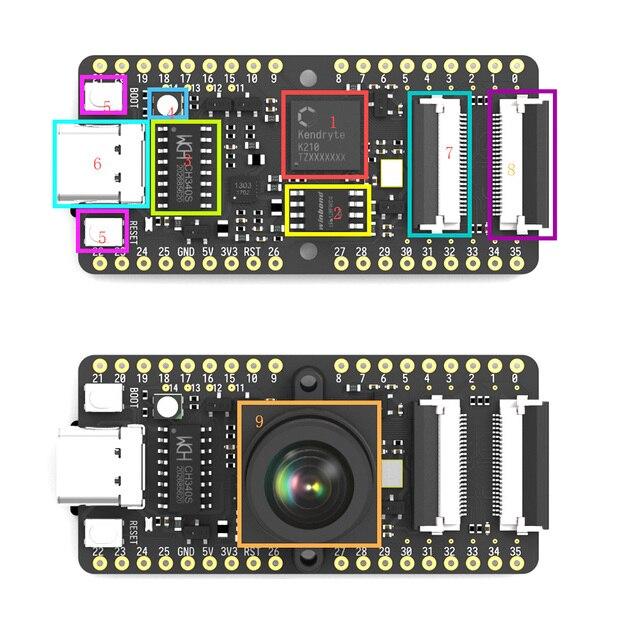 Sipeed MAIX Bit AI development board for straight breadboard with Screen+Camera K210 M12 K210 M12 Lens