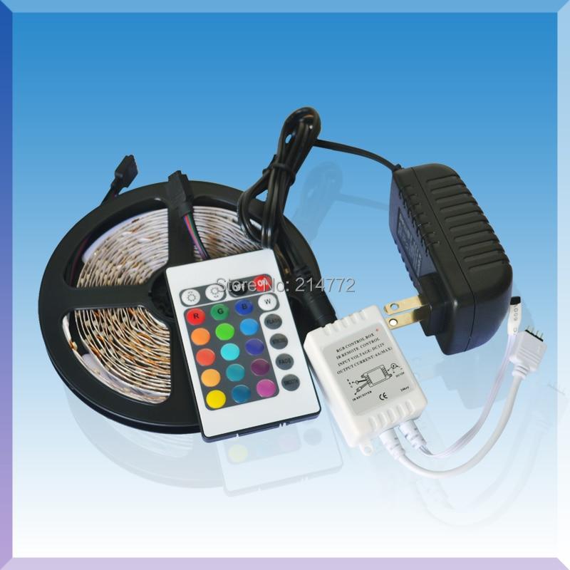 12V 2A Flex RGB LED Light Strip 5050 SMD 300 LED 60 led / m - ლედ განათება - ფოტო 2