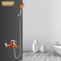 XOXO לבן אמבטיה, מקלחת קיר כרום נחושת המכונה מלאה של ירוק כתום נשמת 20013 W/20023R/20033GR