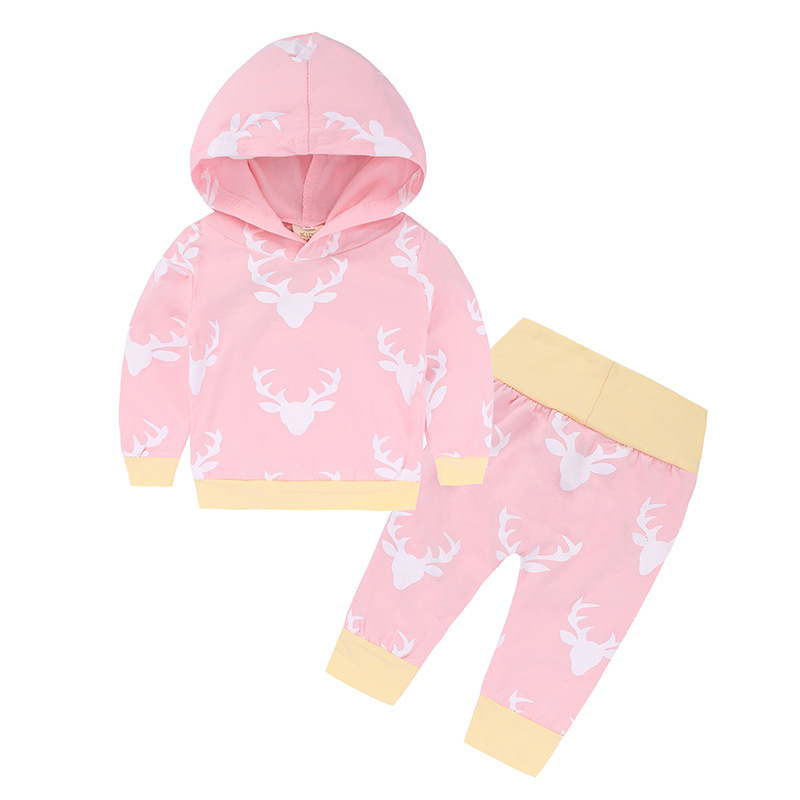 2018 Autumn Ins Child Boy Lady Garments New child Child Christmas Clothes Units Deer Hoodie+Pants 2 Items Outfits Clothes Units, Low-cost Clothes Units, 2018 Autumn Ins Child Boy Lady...