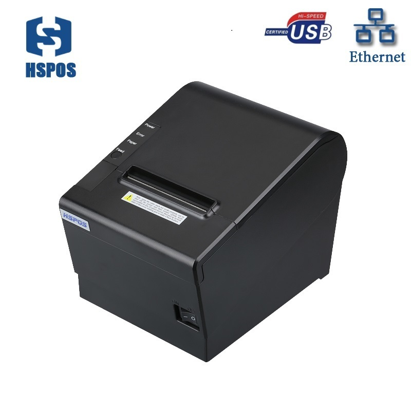 Auto cutter 80mm usb and lan port thermal receipt billing pos printer with high quality support cash drawer wholesale brand new 80mm receipt pos printer high quality thermal bill printer automatic cutter usb network port print fast