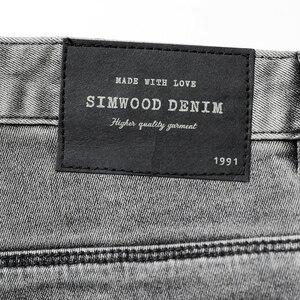 Image 4 - سيموود 2020 موضة الربيع الجديد من سراويل الجينز الرجالية ذات العلامة التجارية الممشوقة بمقاسات كبيرة ملابس الشتاء عالية الجودة NC017060