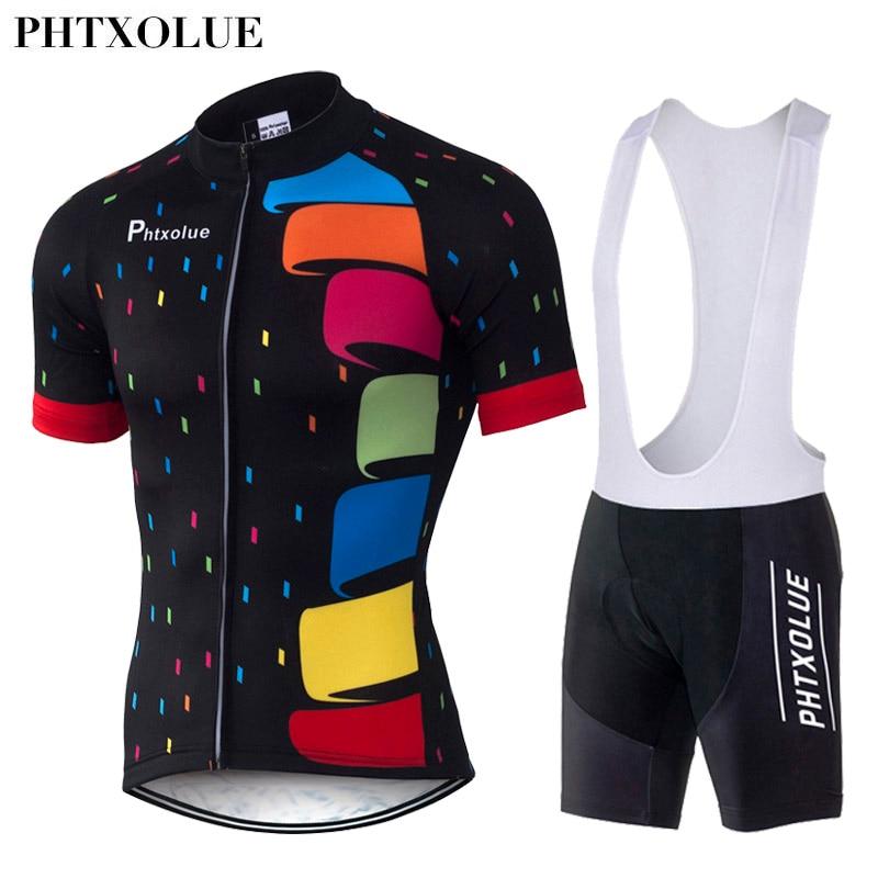 Prix pour Phtxolue 2016 Maillot Ensembles Respirant Vélo Vêtements de Cyclisme Polyester À Séchage Rapide Vélo Vêtements QY048