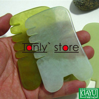 High Quality Thicken Wholesale Retail Body Massage Guasha Kit Facial Beauty Comb 100 Jade Gift Chart