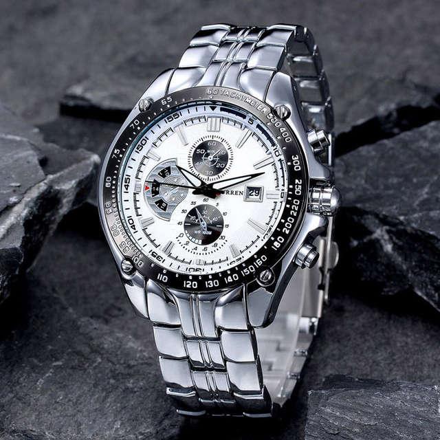 8366c87625c placeholder 2017 nova curren relógios homens luxo marca relogio masculino  militar assista homens de aço completa relógios