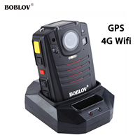 BOBLOV HD66 07 4G Body Police Video Camera DVR GPS 32GB Law Enforcement Cam 2inch LCD with 1950mAh Battery 170Degree Wide Angle