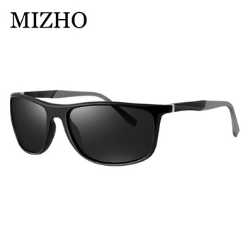 MIZHO 18g Ultralight Aluminum Leg UVA Polaroid Sunglasses Men Vintage Eyewear Accessories Brand Polarized Sunglasses Women 2019