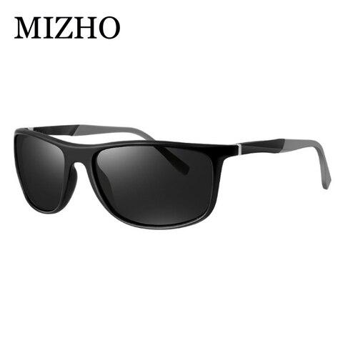 MIZHO 18g Ultralight Aluminum Leg UVA Polaroid Sunglasses Men Vintage Eyewear Accessories Brand Polarized Sunglasses Women 2019 Pakistan