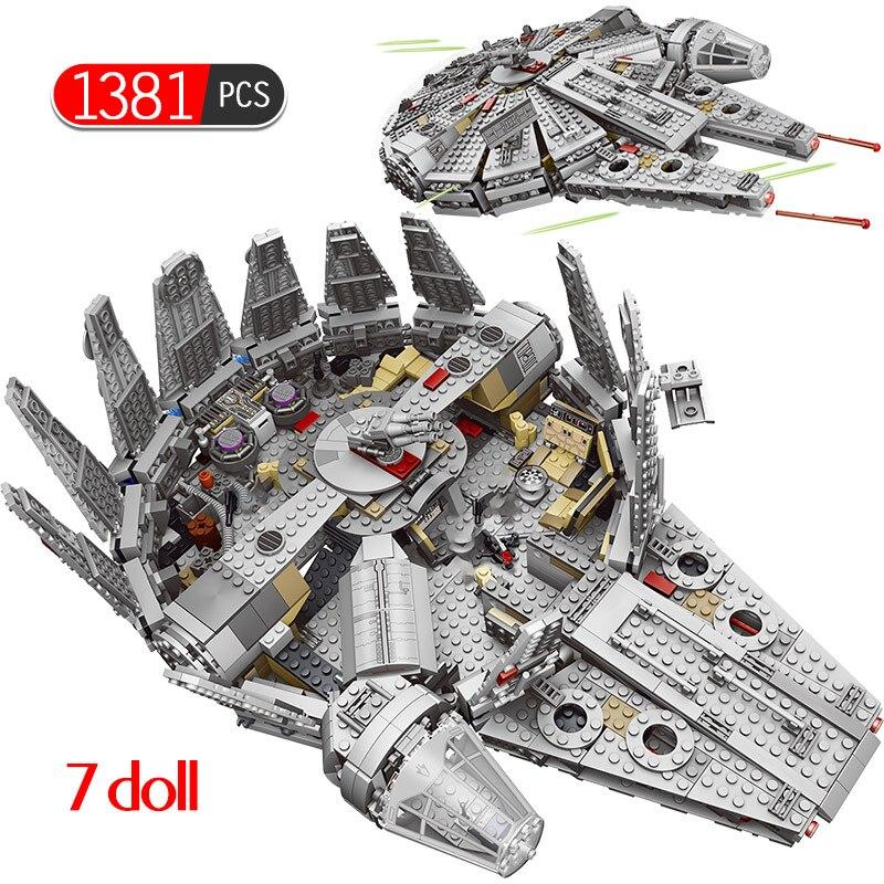 1381 pièces millénaire Force Falcon éveil modèle blocs de construction Compatible Star Set Wars 79211 chiffres briques jouets pour enfants
