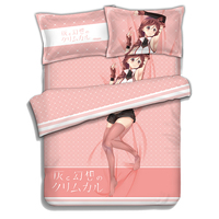 Grimgar of Fantasy and Ash Anime Bed sheets Bedding Sheet Bedding Sets Bedcover Quilt Cover Pillow Case 4PCS