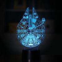 7 Renk Karikatür 3D Gece Işık Mefruşat ürünleri Lamba LED Işık USB Şarj veya 3 X AA pil Masa Lambası Yatak Odası Dekoratif