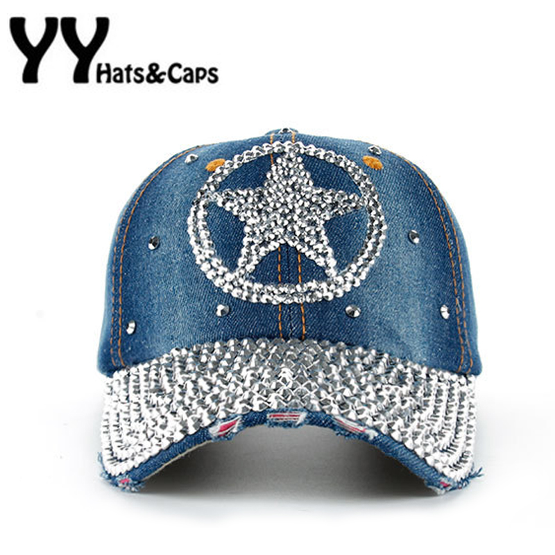 3415a1c5265 Online Shop NEW Diamond Snap Back Caps Men Casual Jean Hats Women Fashion  Leisure Star Cap Rhinestones Cotton CAPS Baseball Cap YY17084