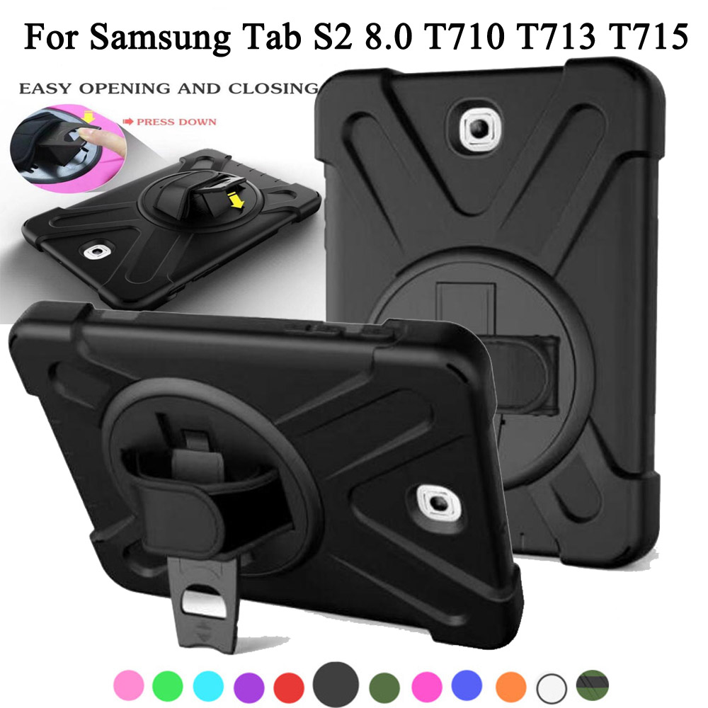Shockproof Kids Protector Case For Samsung Galaxy Tab S2 8.0 SM-T710 T713 T715 T719 Heavy Duty Silicone Hard Cover + Stylus pannovo silicone shockproof fallproof dustproof case cover for samsung galaxy note 2 n7100 black