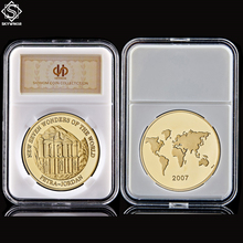 Asian Petra Jordan New Seven Wonders of the World Commemorative Coin Model Toy Collectible Gift Coin W/ Capsule Holder Display