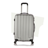 VSEN Set Of 1 Piece Travel Luggage 4 Wheels Trolleys Suitcase Bag Hard Shell Color Cray