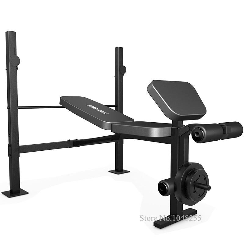 Équipement de Fitness d'haltérophilie domestique, banc d'entraînement avec roulement de poids 660lbs, banc de Squat à la maison, formation de banc d'haltères