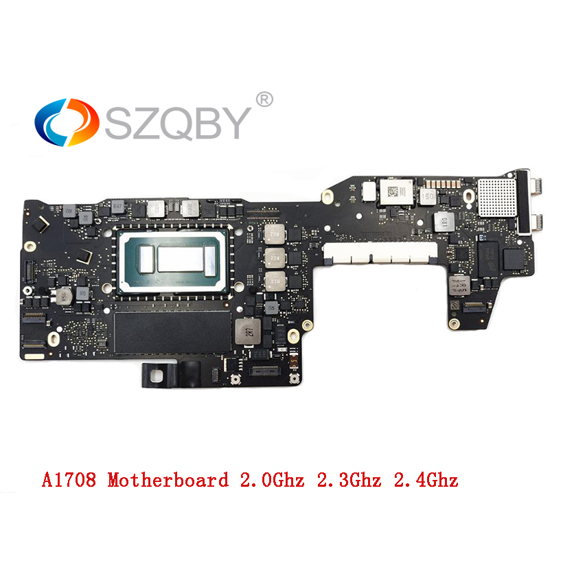 "Genuine I5 2.0 GHz 8G RAM I7 2.4GHz 16GB Logic Board For MacBook Pro 2016 2017 13"" No Touch Bar A1708 Motherboard 820-00875-A"
