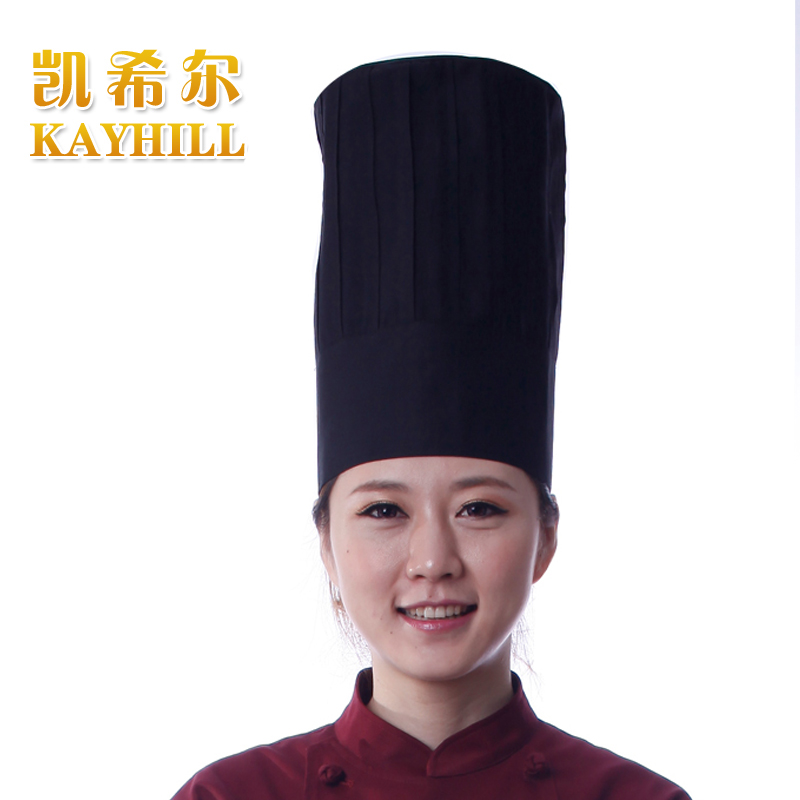 Black flat cook cap fashion cotton 100% restaurant chef hat cook with jamie