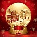 Виниловый Рождественский зимний городок Золотой хрустальный шар снежинка 10х10фт студийный фон фотография Опора фотографического фона