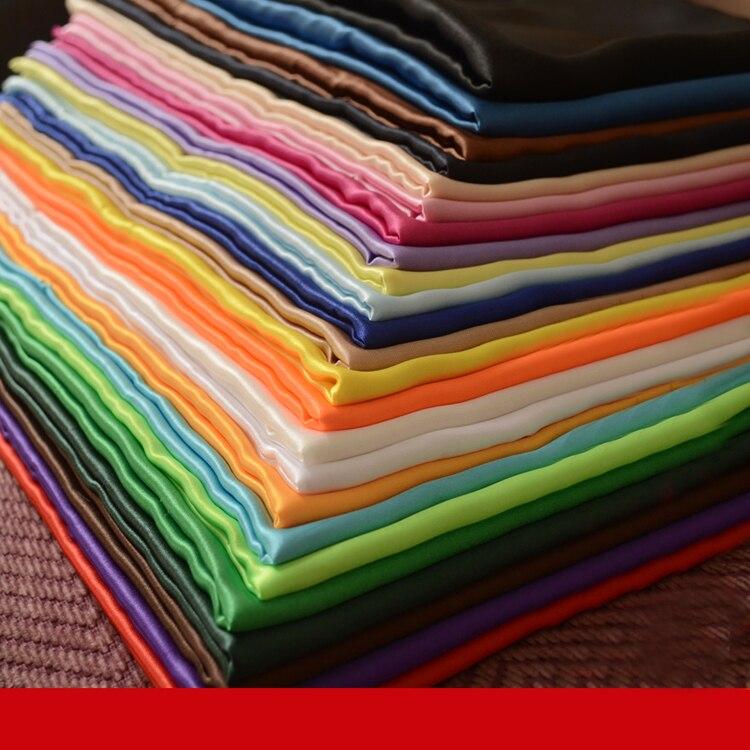 Branco Roxo Charmeuse Macio Presente Forros Poli Material De Cetim Para Roupas DIY Handmade Artesanato Tecido de Cetim Grossa