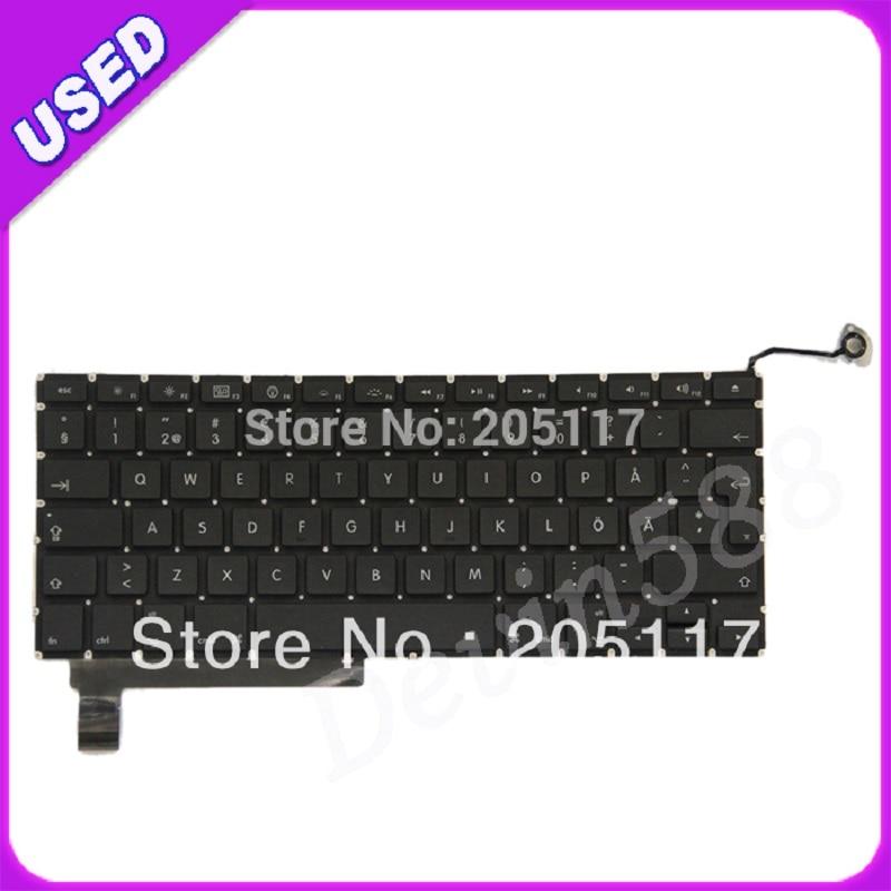 LAPTOP KEYBOARD FOR Macbook Pro Unibody 15 A1286  Swedish Keyboard,100% WORKING! laptop keyboard for pegatron japanese jp mp 13a80j065827 0kn0 cn6jp12