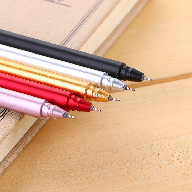 South Korea stationery wholesale metal color neutral pen examination stationery creative metal touch pen office pen 12pcs lot south korea stationery love secret garden straight liquid type fountain pen 2017