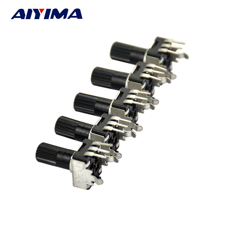 AIYIMA 50pcs RV09 Type Upright Adjustable Potentiometer 1K 2K 5k 10K 20K 50K 100K 200k 500k 1M Adjustable Resistance free shipping 50pcs sale new 3 3 smd trimmer potentiometer 1k 2k 5k 10k 20k 30k 50k 100k 200k 500k best quality