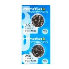 2 pçs/lote varejo brandnew renata de longa duração 390 sr1130sw 389 lr54 ag10 relógio botão da bateria célula moeda suíço feito 100% original