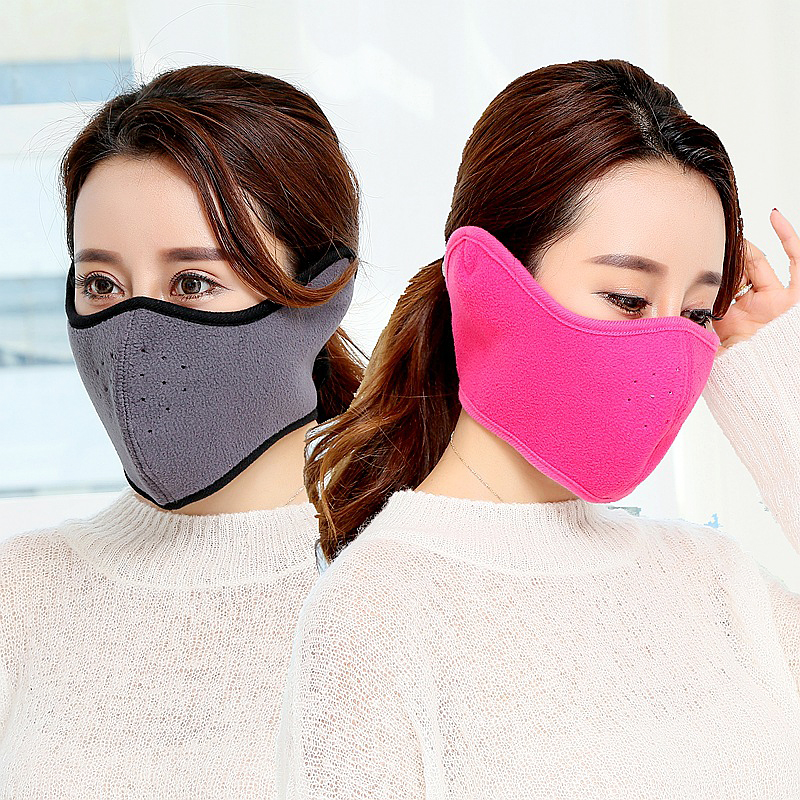 1 Pieces Warm Winter Mask Health Cycling Anti Dust Nose Protection Face Mouth Mask Fashion Reusable Masks For Men Women 7 Colors