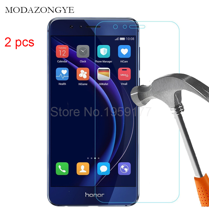 2pcs Tempered Glass For Huawei Honor 8 Screen Protector Huawei Honor 8 FRD L19 FRD L09 Screen Protector Glass Protective Flim-in Phone Screen Protectors from Cellphones & Telecommunications