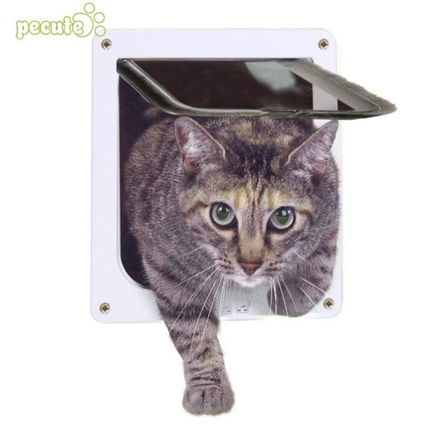 4 Functions Catdog Door Strong Dog Accessories Pet Safety Pet Home