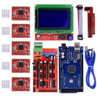 3D Printer Kit Mega 2560 R3 Microcontroller Ramps 1 4 Controller 12864 LCD Panel 5pcs A4988