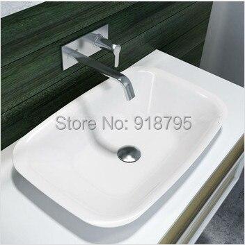 Rectangular bathroom solid surface stone counter top Vessel sink fashionable Corian washbasin RS38205 557