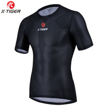 X-Tiger Pro Camadas de Base De Ciclismo Clothings Bicicleta Superlight Bicicleta Manga Curta Camisa de Malha Breathbale Legal Camisa Cueca(China)