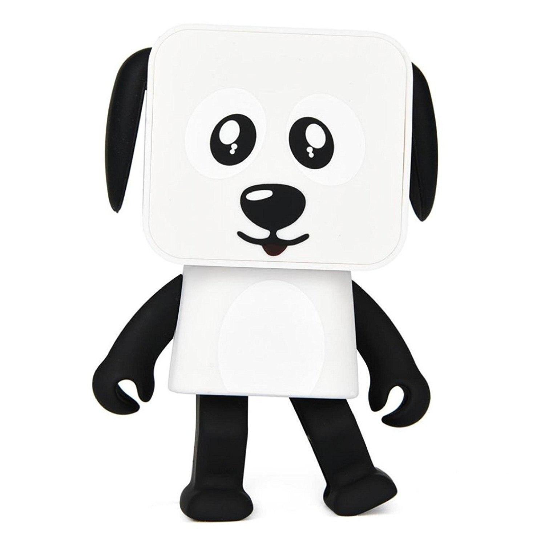FBIL-Mini Bluetooth Speaker Wireless Portable Robot Dog Dancing Music Speaker Best Gift Cute Smart Mini Robot Dog for Kids Bla