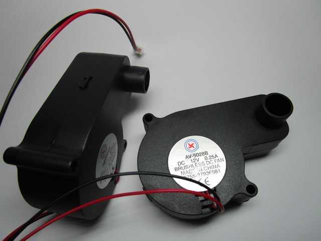 1 pcs Brushless DC Blower Fan 5028B 12V 2 Wires Black Color 50x28mm Ball-bearing