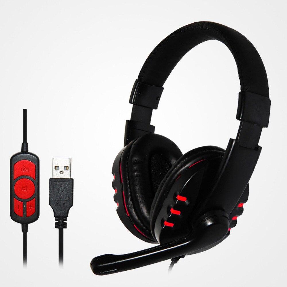 Vodool USB Wired Juego Gaming Auriculares Estéreo En la Oreja los Auriculares Co
