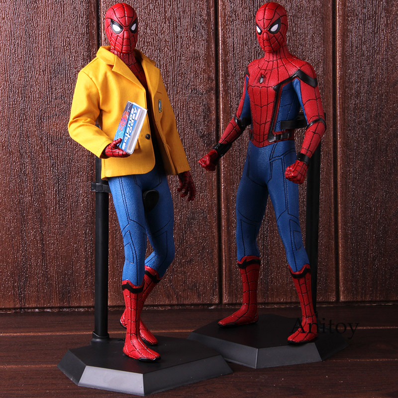 Crazy Toys Spider Man Homecoming Tom Holland Spiderman Figurine Toy Doll Brinquedos Figurals Collection Model Gift