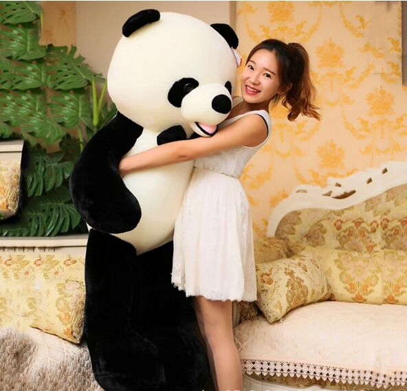 huge new plush bow panda toy high quality big lovely panda doll gift about 140cm 2710