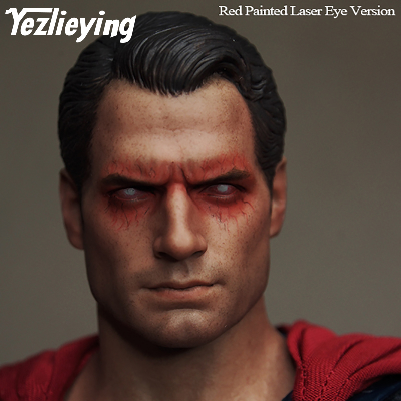 Superman War Batman Henry Carville head engraved red-eye version of the fine men's 1/6 head custom men's head sculpture model french sculpture following the franco prussian war 1870 80