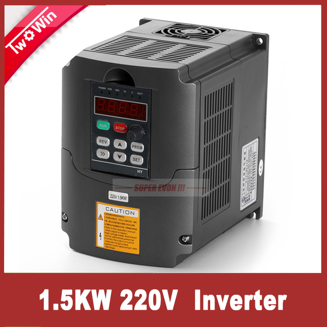 1.5KW 220V Inverter VFD Spindle Inverter 1.5kw Frequency 3 Phase Output  Machine Drive Inverter